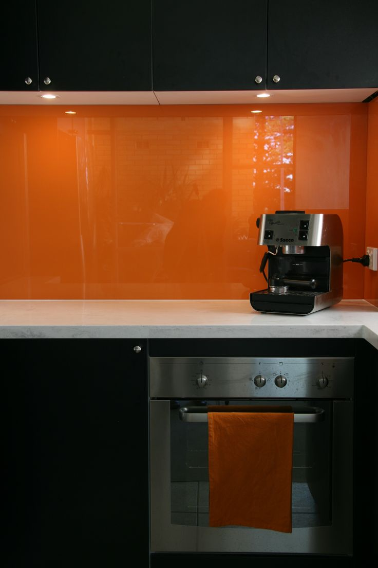 24 best orange splashbacks images on pinterest kitchen ideas