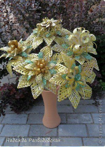 Поделка изделие Плетение Цветы из ржаной соломки Соломка фото 7