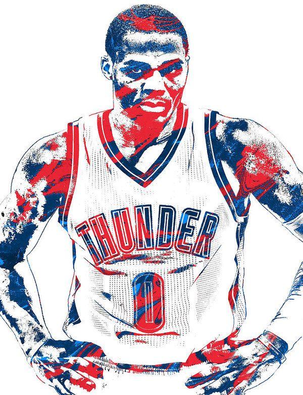 Russell Westbrook Oklahoma City Thunder Pixel Art 4 Art