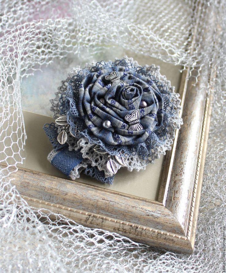 Купить Текстильная бохо-брошь Дыша туманами... - Елена Кожевникова, текстильная…