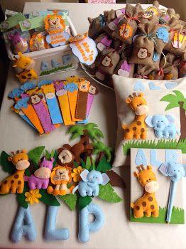 butik keçe tasarım: Safari temalı keçe doğum hatıraları