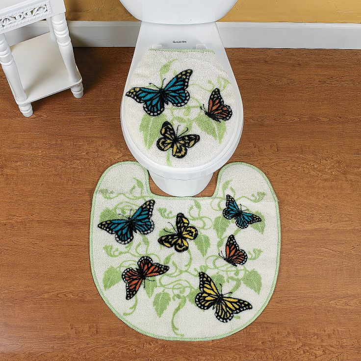 Butterfly Bathroom Contour Rug And Toilet Lid Cover   OrientalTrading.com