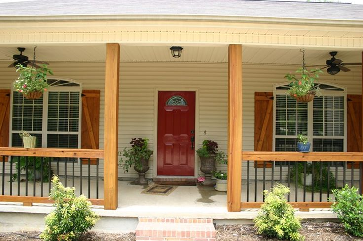 Love the shutters and the colors. Front Porch: Before and After! - F150online Forums