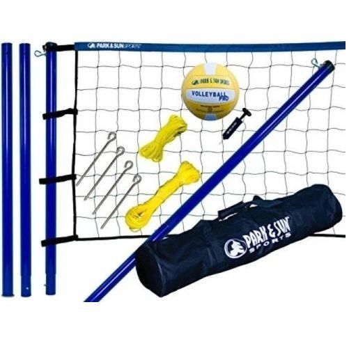 Volleyball Net Set Outdoor Portable Sports Backyard Beach Park Court Equipment #ParkSun