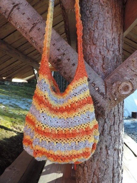 FB Inushic handmade - Crochet bag - Cross Body Bag -  Beach bag - Over the shoulder bag - Handmade bag  - Summer bag - Market bag - Boho - Vintage - Shabby - Natural material - Recycled yarn - Cotton yarn