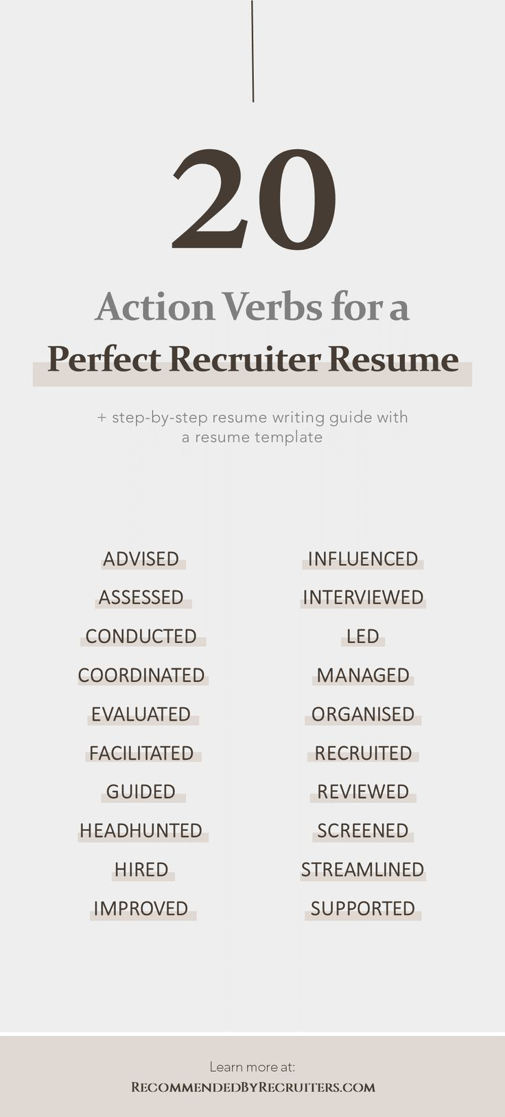 Action Verbs for a Perfect Recruiter Resume, Power Words