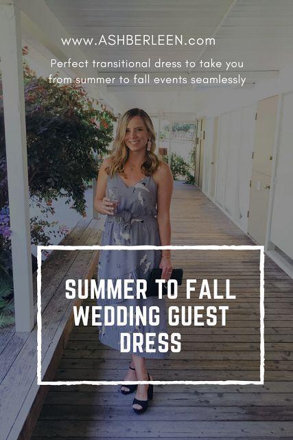 Summer to Fall Wedding Guest Dress