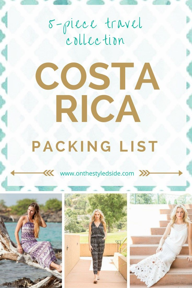 The best Costa Rica Packing List featuring a 5 piece capsule wardrobe to pack light! Travel Style   Packing Tips   Click through to see the list!