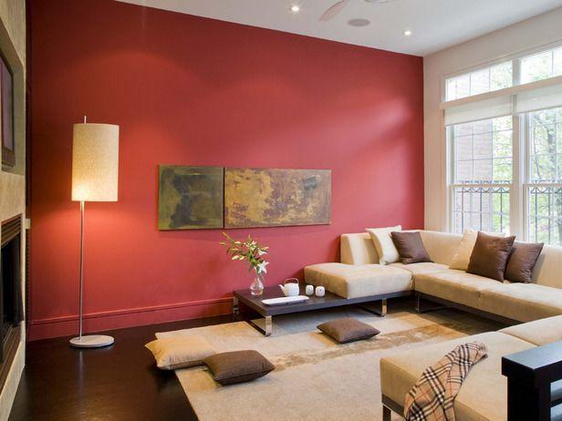 decoración de salas en rojo
