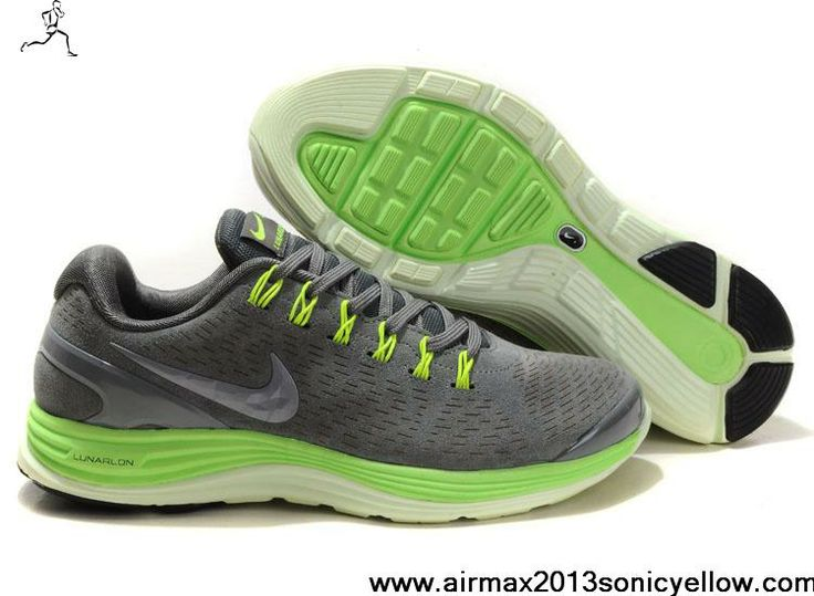 Christmas gift Top Value Nike LunarGlide 2 Green Cyan Sports Shoes
