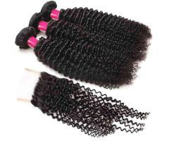 mink hair human hair bundles with lace closure | Hairinbeauty