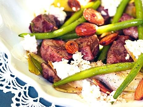 Lamm med chèvre och grönsaker