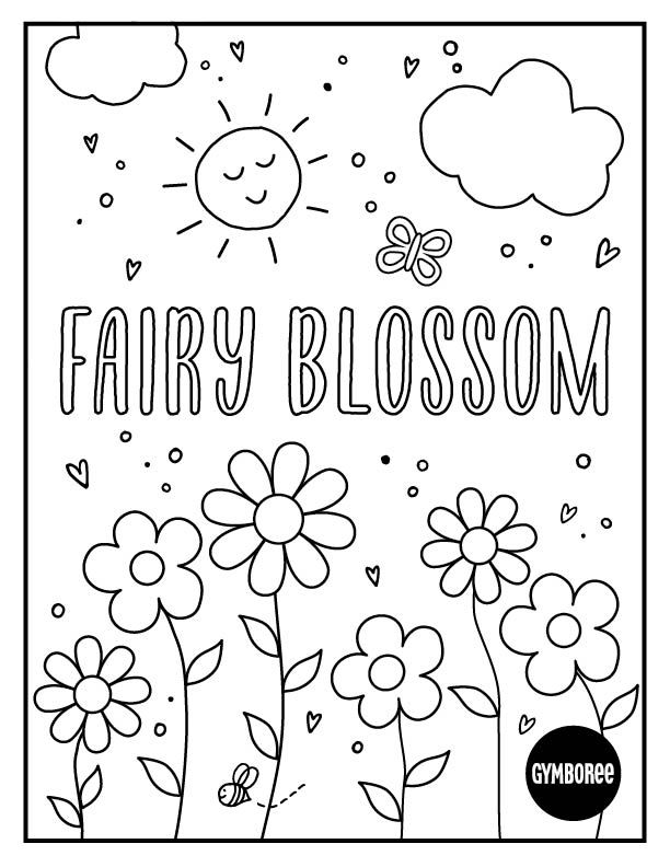Coloring Sheet Fairy Blossom Coloring Sheets Coloring Pages For Kids Coloring For Kids