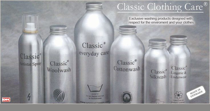 Vaskemidler, Tekstilpleje, læderpleje fra Classic Clothing Care