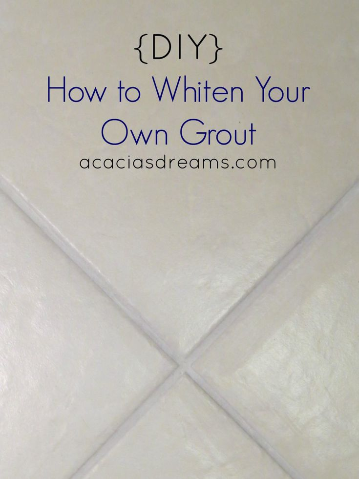 {DIY} How to Whiten Your Own Grout