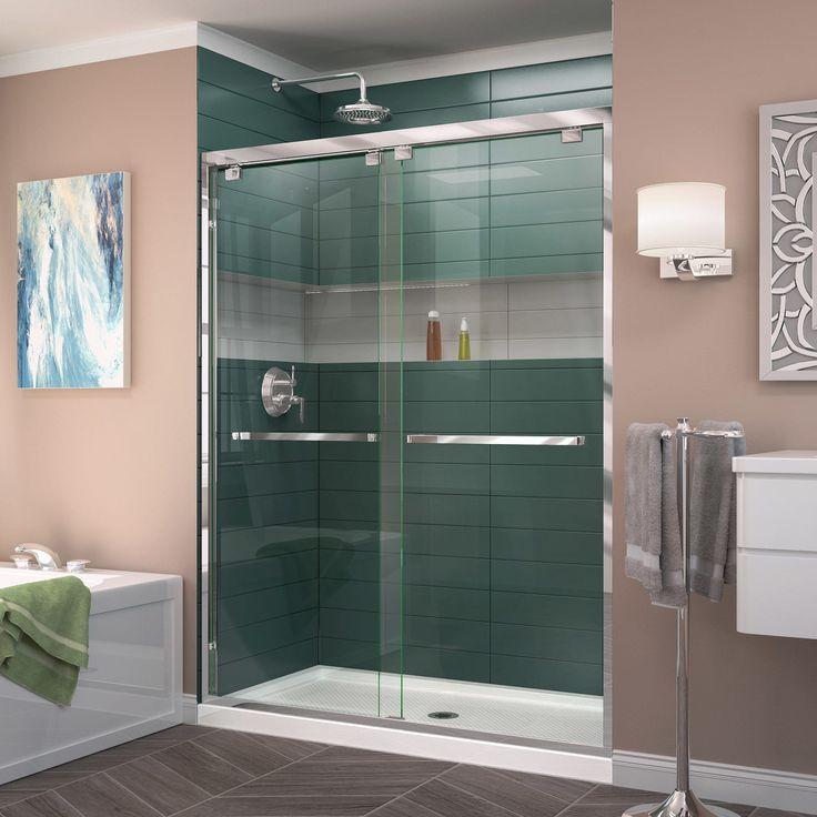 DreamLine Encore 36 in. D x 60 in. W x 78 3/4 in. H Frameless Bypass Sliding Shower Door and SlimLine Shower Base Kit (