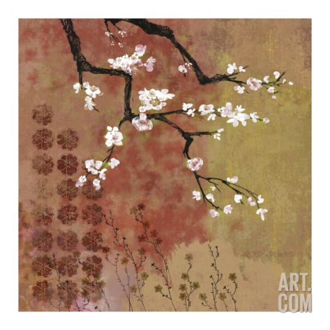 Japanese Branch Floral Art Print by Evelia Sowash at Art.com