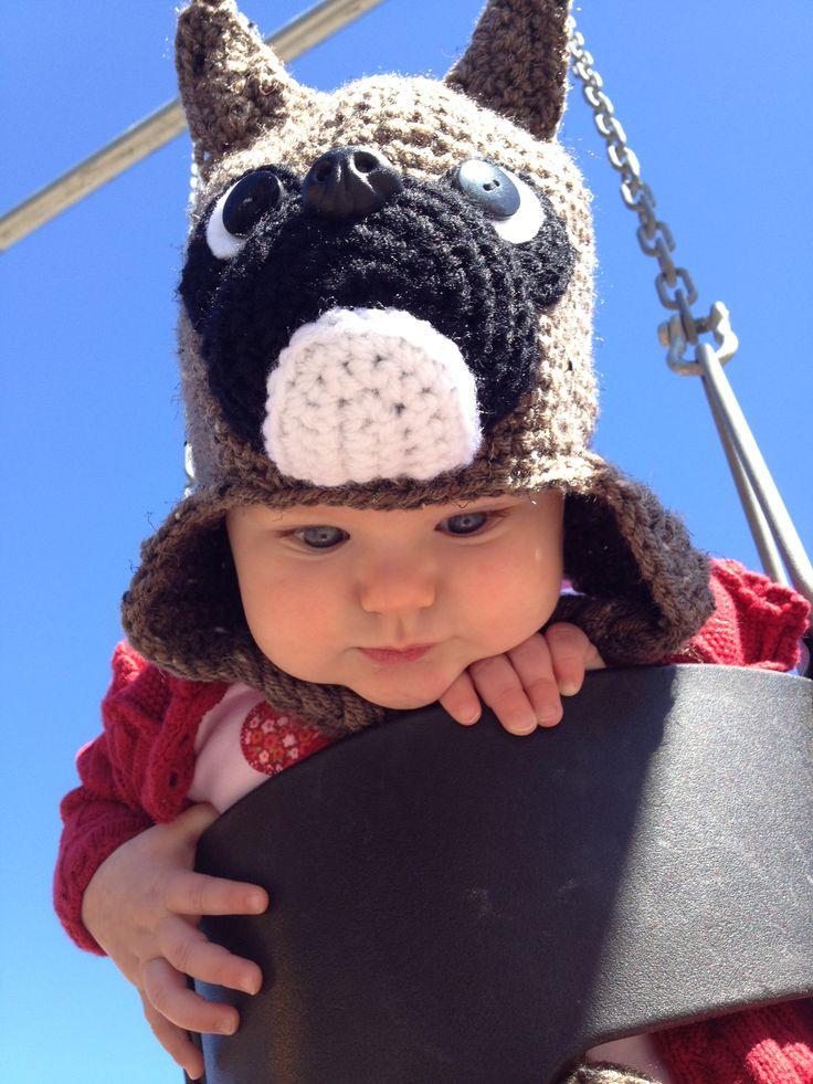 Sydneys Boxer dog knit hat from IraRott on etsy Sydney ...