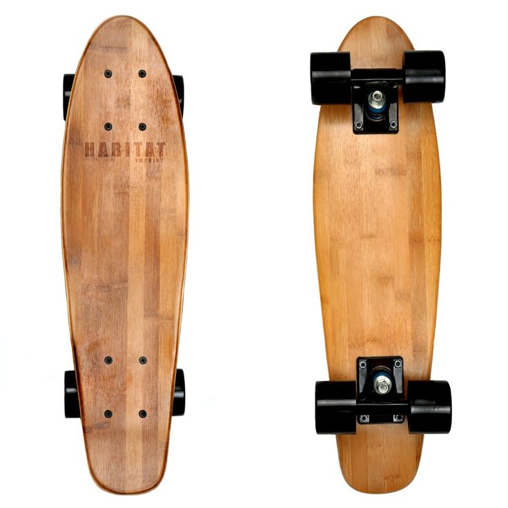 "Amazon.com : Hollenbeck 22"" Cruiser Bamboo Skateboards : Sports & Outdoors"