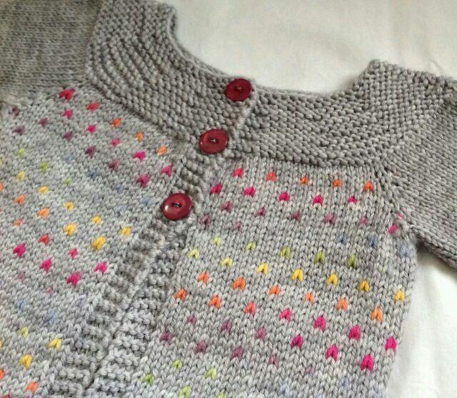 Heart baby sweater