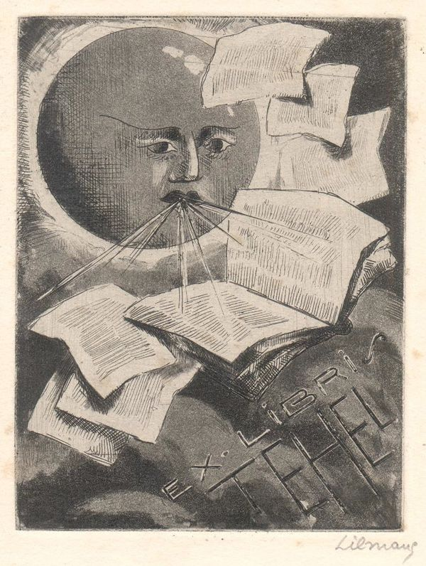 bookplate by Emile Henry Tilmans (Begium, 1888–1960)