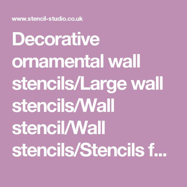 Decorative ornamental wall stencils/Large wall stencils/Wall stencil/Wall stencils/Stencils for walls/Wall decals/Wall arts/Home decor
