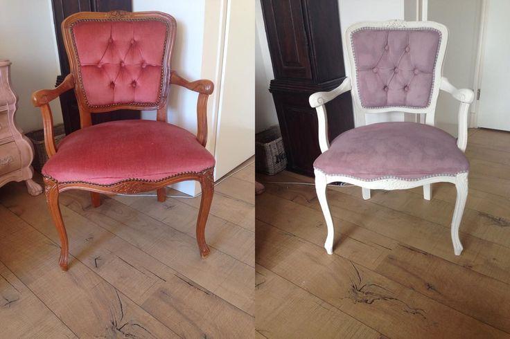 Een hele mooie Annie Sloan transformatie van Ilona op stoffen stoelen