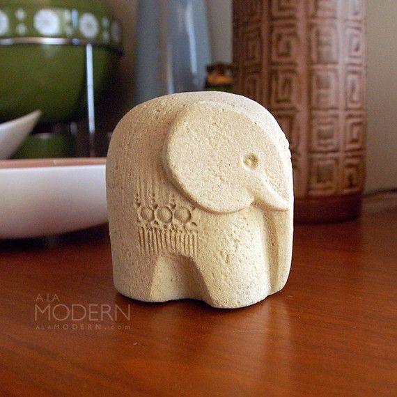 Marbell Belgium Elephant Stone Art Sandstone Figurine