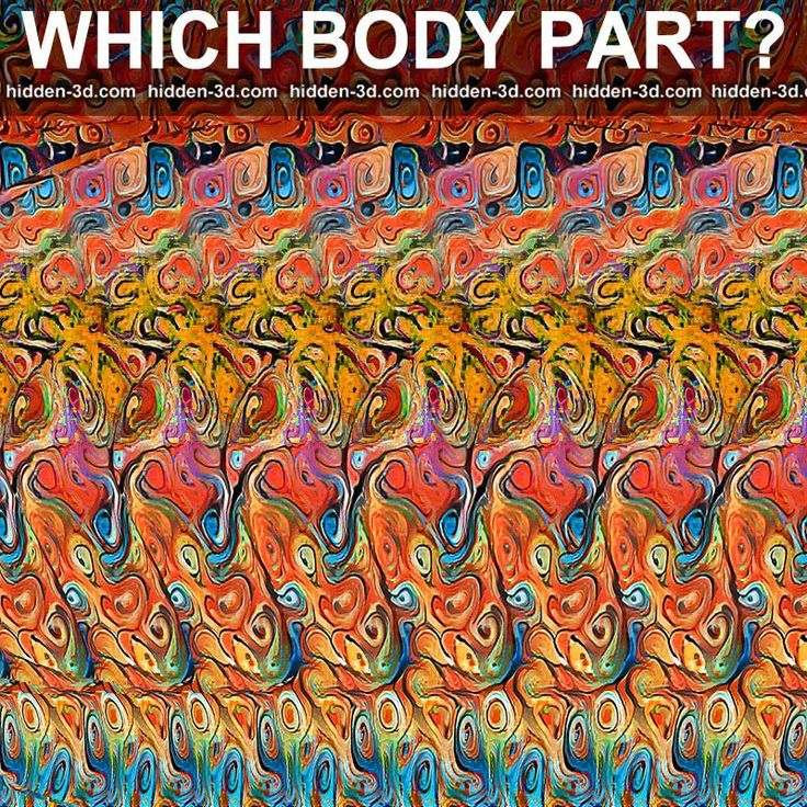 Stereogram By 3Dimka: Guess The Part Of Body. Tags: Ear