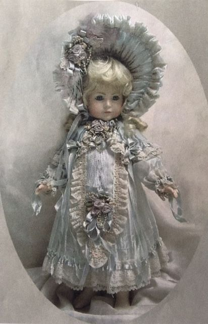 "Doll Dress ~ 19"" ♥ Dollightfully Yours ♥ by Cheryl Imbornone@//(*_*)\\@"