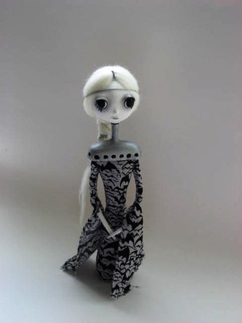 Art Doll - Goth Art Doll - Goth Cloth Doll. $70.00, via Etsy.