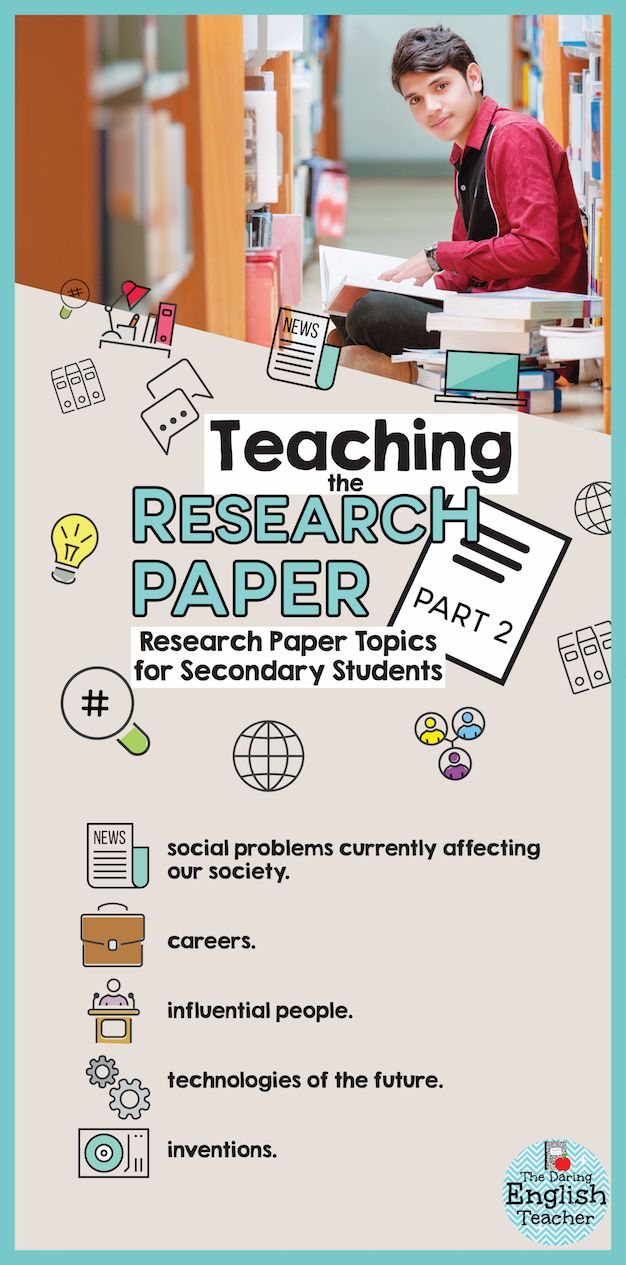Research Paper Topics For High School Students Research Paper Teaching Writing Teaching