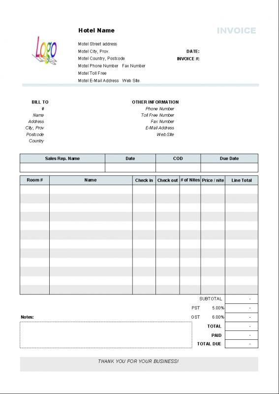 Online Invoices Free Hourly Invoice Template  Template  Pinterest  Template
