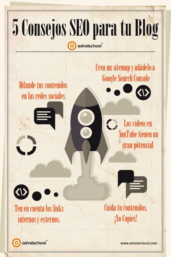 Hola: Una infografía con 5 consejos SEO para tu Blog. Vía Un saludo