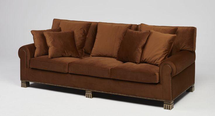 Imperia | | Bronze feet, velvet with piping and antique brass studs   #mapswonders #lighting #furniture #interiordesigner #vintage #luxurydesign