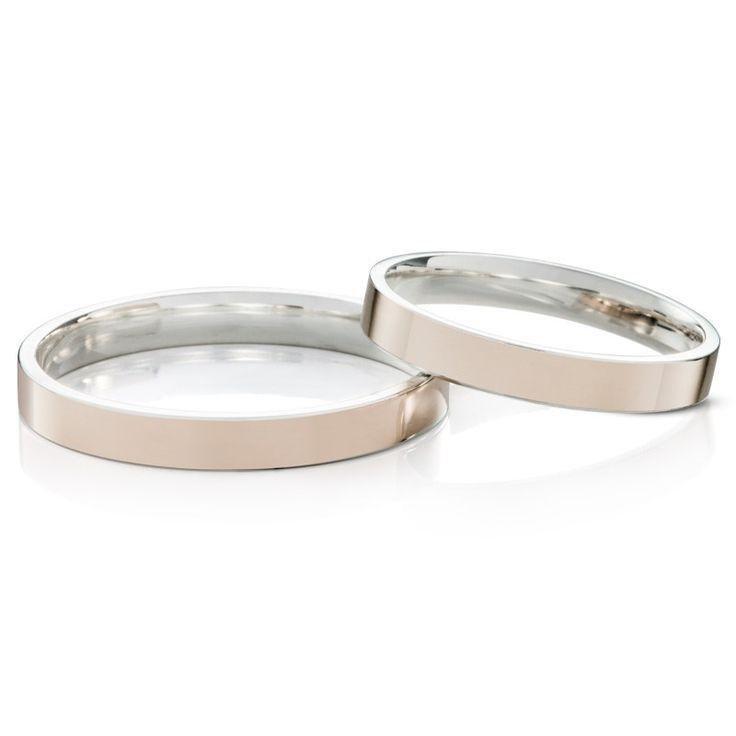 Imagem de: Aliança de Namoro em Prata e Ouro Eterni Silver Gold Vivata P (Cada)