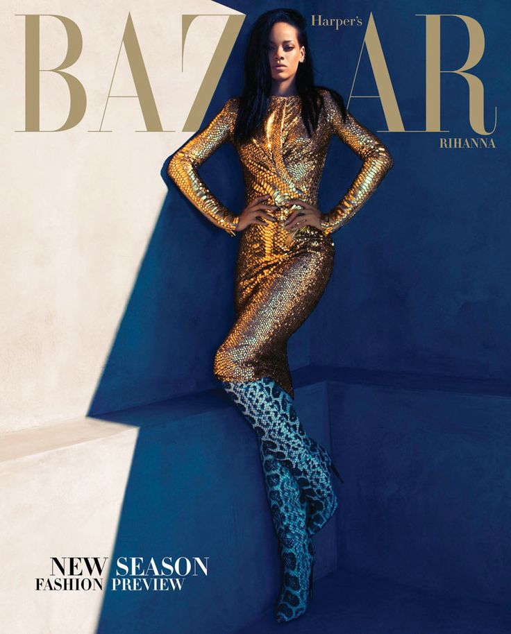 Sex & Music – Pop singer Rihanna graces the August cover of Harper's Bazaar US wearing a white dress from Calvin Klein. Camilla Akrans captures the Barbadian beauty in a sleek story featuring fall fashions from Balmain, Tom Ford, Alexander Wang and others selected by Mel Ottenberg. In the magazine, Laura Brown chats with the star about living life in the public eye, sex and music.    Read the article and see more images on HarpersBazaar.com