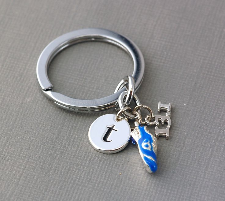 Half Marathon 13.1 mile Running Shoe Charm Key Chain . monogram . personalized, custom . silver plated. $15.00, via Etsy.