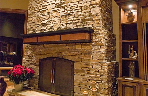 Copper Tiles Fireplace Bing Images For The Home Pinterest Mantels Copper And Fireplaces