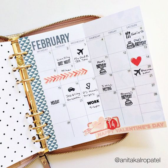 personal size planner insert - monthly foldout