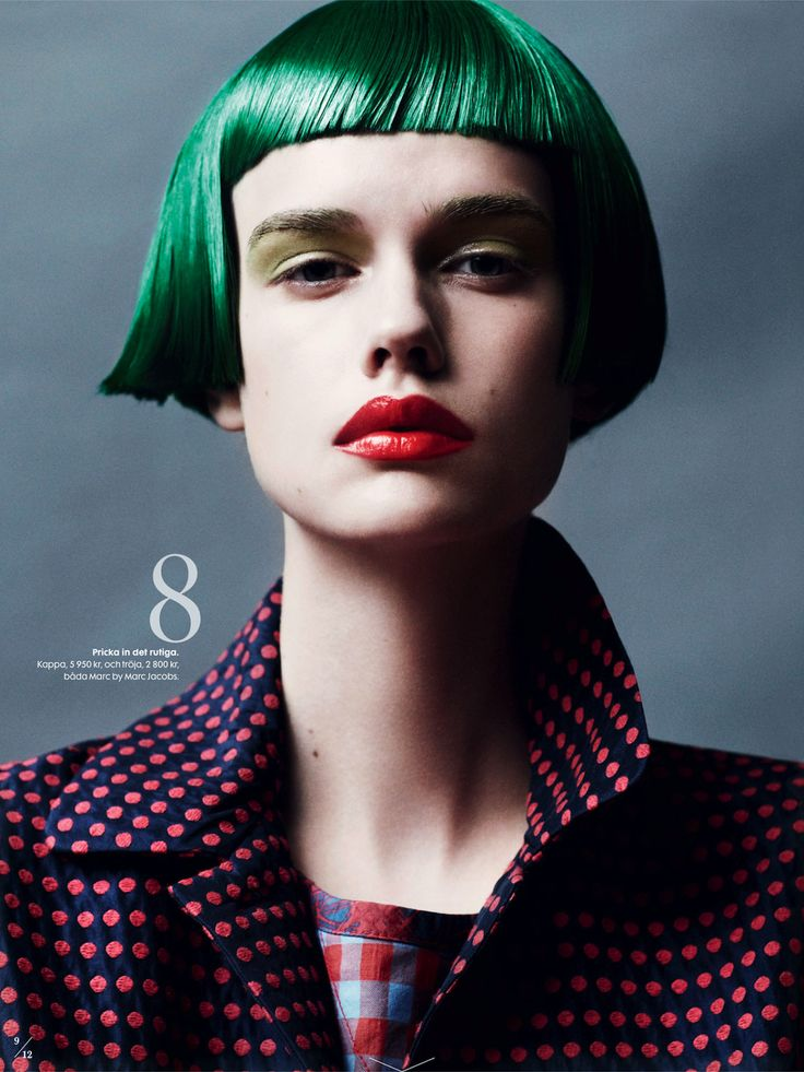 VARENS NYA LOOKS: STINA RAPP WASTENSON BY MARCUS OHLSSON FOR ELLE SWEDEN FEBRUARY 2013 #green