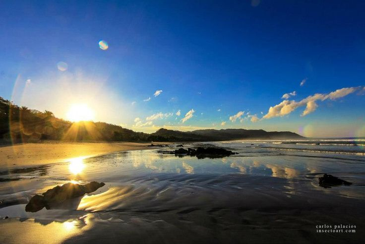 Good morning! Sunrise on Playa Hermosa in Santa Teresa, Costa Rica. vajrasoltravel.com