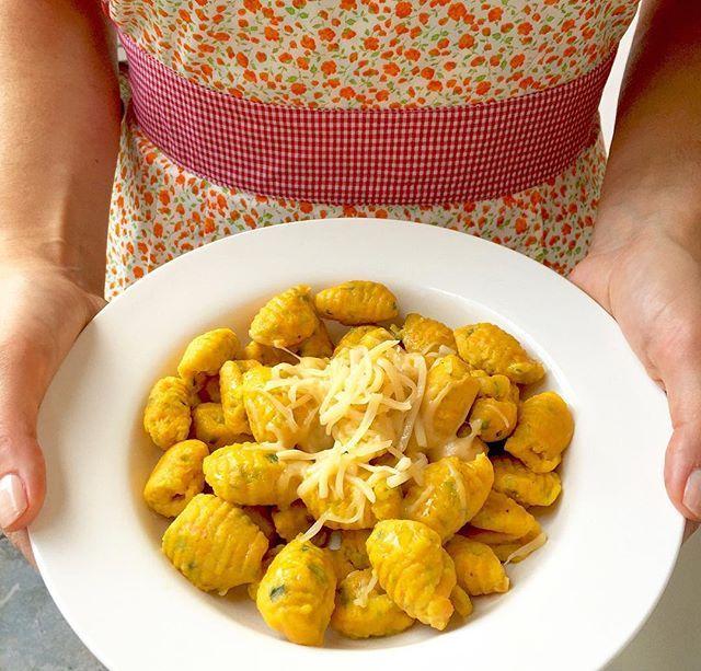 Ñoquis de zanahoria y puerros!  Sin gluten. Súper ricos y livianos!