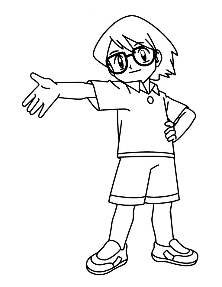 pokemon trainer coloring pages - photo#19
