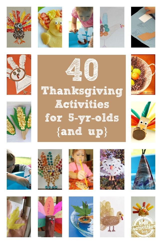 40 Thanksgiving Activities for 5 year olds and up featured on Kids Activities Blog