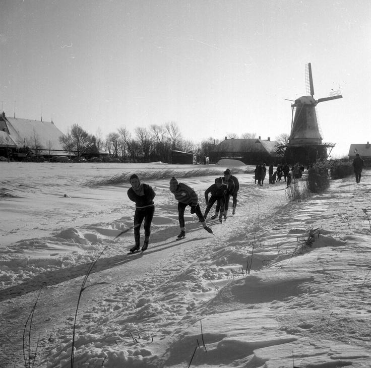 Friesland. Elfstedentocht, 1963.