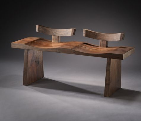 Brian Hubel- Fine Wood Furniture - Bench