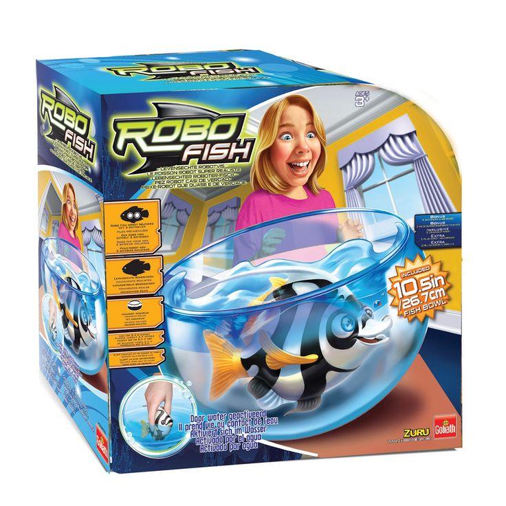 Beleef de spannendste onderwateravonturen met deze Robo Fish Deep Sea Wimple speelset. Vul de vissenkom met water en leg de Robo fish erin. De vis activeert door het water en begint vanzelf te zwemmen. De vis schakelt automatisch uit en wordt geactiveerd door te kloppen op de kom. Andere Robo vissen apart verkrijgbaar. Inclusief batterijen.Afmeting: verpakking 29,5 x 29 x 14 cm - Robo Fish Deep Sea - Wimple Speelset