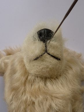 Tutorial for Attaching a Polymer Clay Nose to a Needle Felted Face