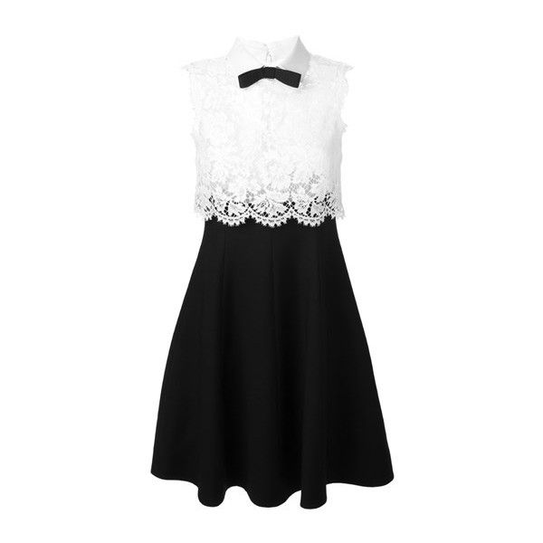 VALENTINO Lace Panel Dress found on Polyvore